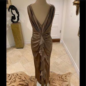 Fabulous silk ruched formal full length dress